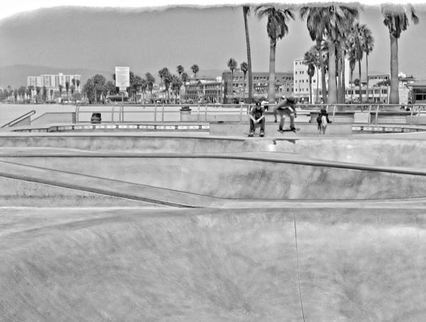 Venice skateboard park in Venice California